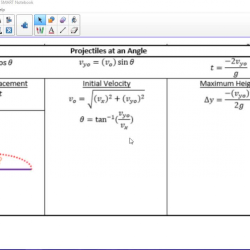05 Projectiles at an Angle Example Video