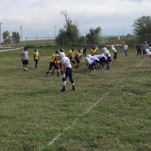 Loneman football touchdown vs American Horse Sept. 15 2016