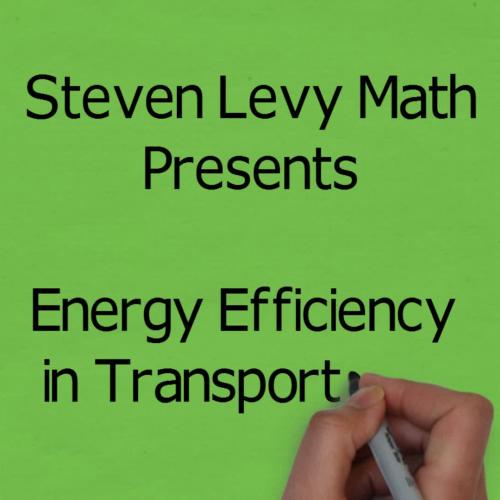 Energy Efficient Transportation Animation