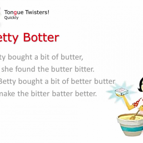 Betty Botter Tongue Twister - Quickly