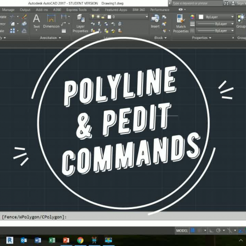 polyline and pedit