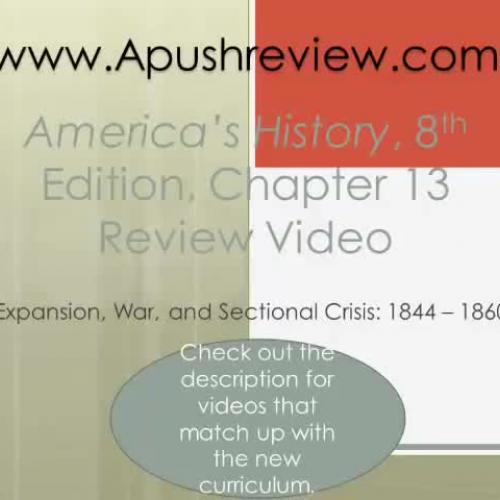 America's History Chapter 13 Review