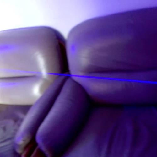 High powered 450nm laser pointer light white paper remotely