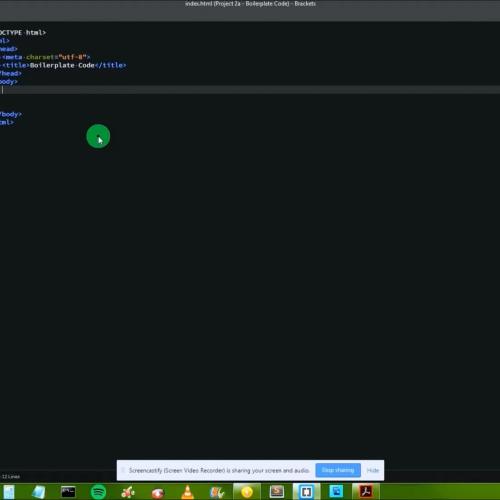 Project 2a - HTML Boilerplate Code