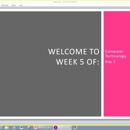 Computer Class Week 5