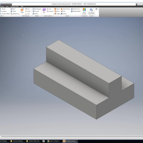 Introduction to Inventor Drawing Part 4