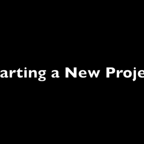 How to start a new project