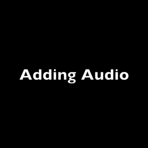 How to add audio