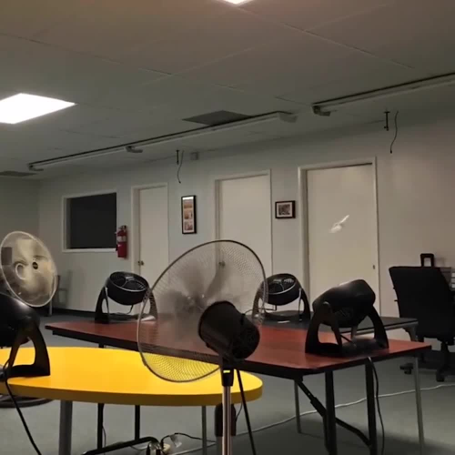 Paper Airplane Continuous Flight Using Fans