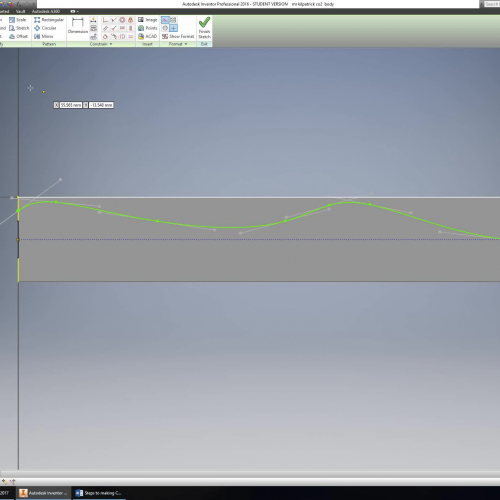 How to draw Top Profile on CO2 Dragster Block