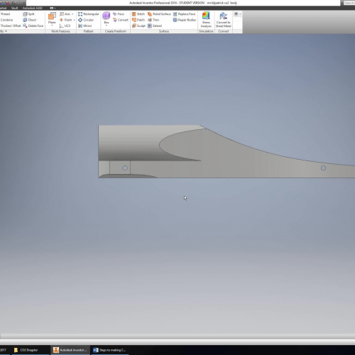 How to draw rear profile on CO2 Dragster Blank