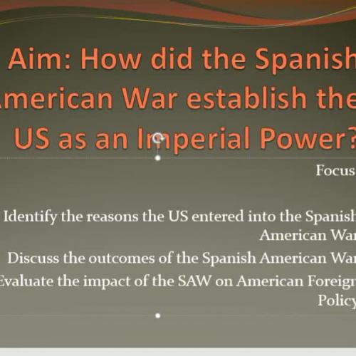 Spanish American War Module