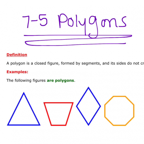 7-5 Polygons