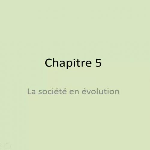 La société en évolution