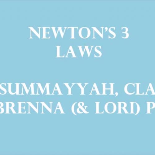 Newton's Three Laws!! version 3