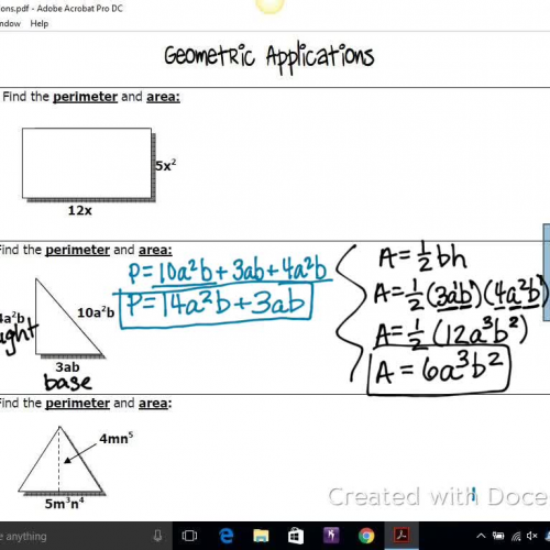 Geometric Applications 2