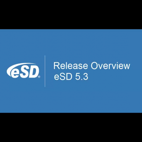 eSD 5.3 Release Overview
