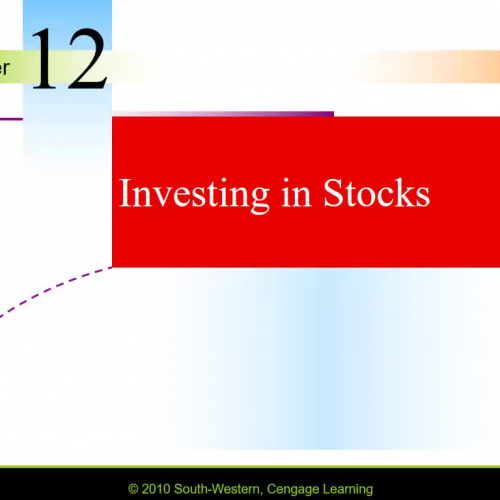Personal Finance - Section 12-1 on Stocks