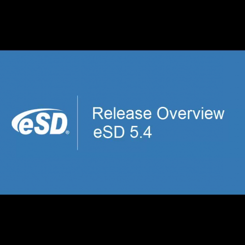 eSD 5.4 Release Overview