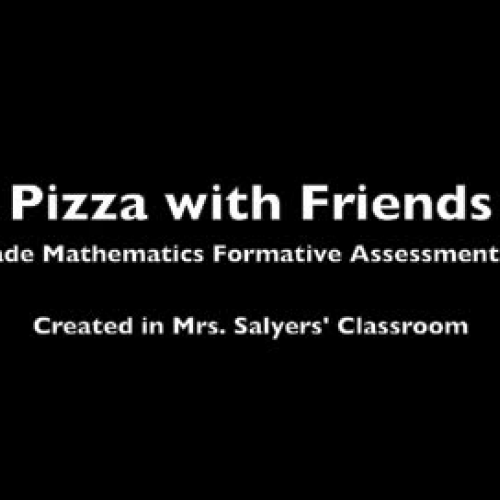 Pizza with Friends -  5th Grade Math Formative Assessment