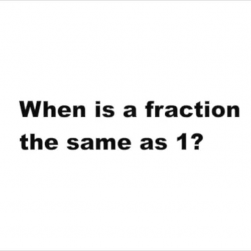 Fractions As A Whole