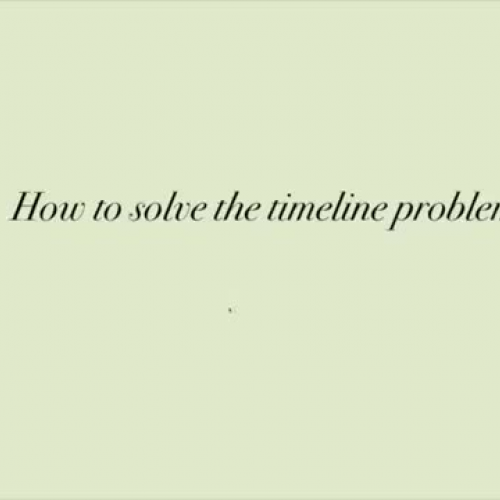 How to Solve a Timeline Problem with BC