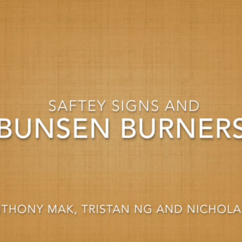 Year 7D's Next Top Scientist - Bunsen Burners and Saftey Signs