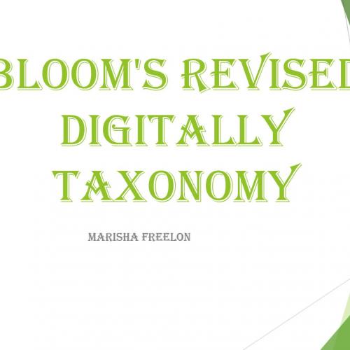 Bloom's Taxomony