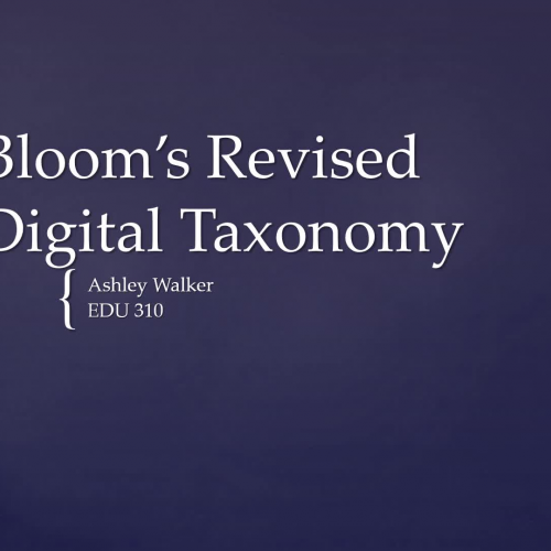 AW Bloom's Revised Digital Taxonomy