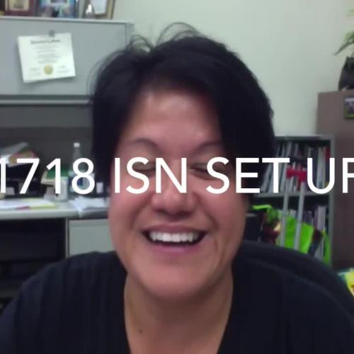 1718 ISN Set-Up