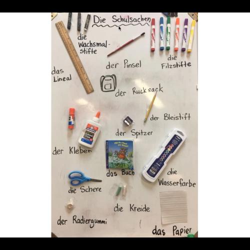 Die Schulsachen- German