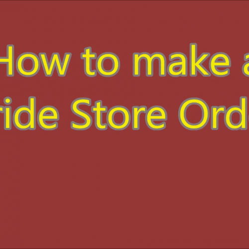 How to make a pride store order