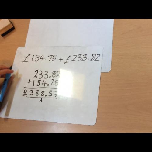 Maths - Tear 6 - Addition