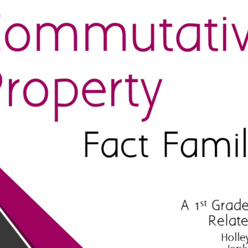 Commutative Property: Fact Families