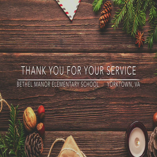 Holiday Greeting for Deployed Service Members