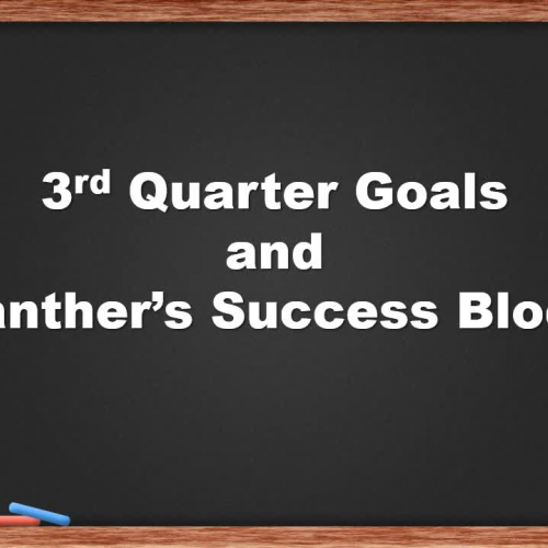 Goal Setting and Palmer Success Block