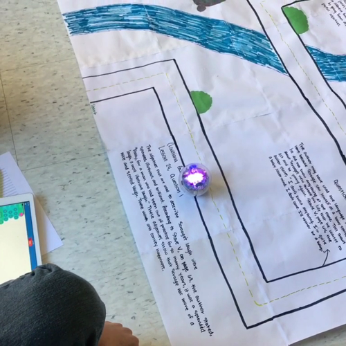Using Sphero SPRK to Cite Textual Evidence in English and Reading