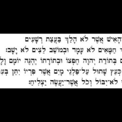 Psalms 1:1-3 in Hebrew