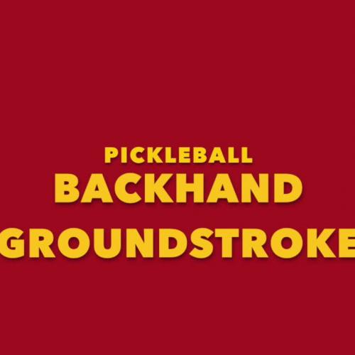 Centerville Pickleball Backhand Groundstroke