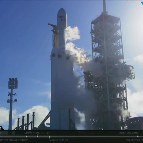 SPACEX FALCON READY FOR LAUNCH TO MARS!