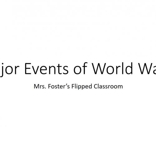 World War II major events