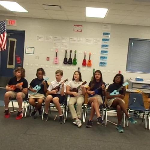 "17-18 Ms. Etts' 5th grade class ""Li'l Liza Jane"" ukulele"