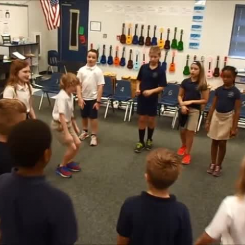 "17-18 Mr. Bishop's 3rd grade class ""Movement Canon"" by Kriske/DeLelles"