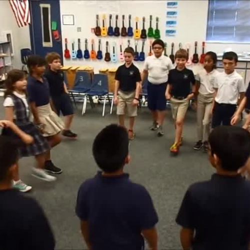 "17-18 Ms. Townsend's 3rd grade class ""Movement Canon"" by Kriske/DeLelles"