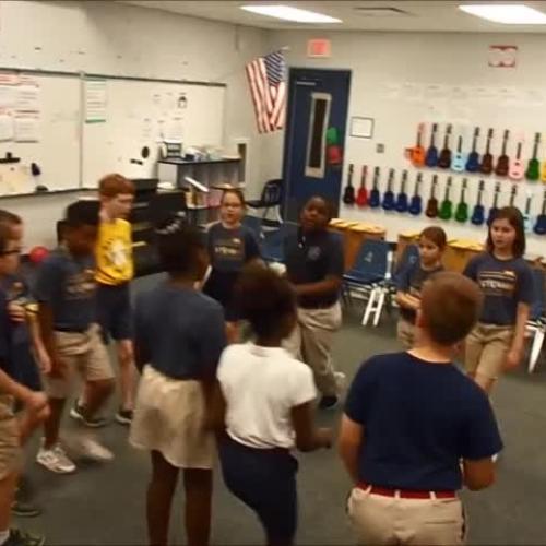 "17-18 Ms. Gebhardt's  3rd grade class ""Movement Canon 4"" by Kriske/DeLelles"