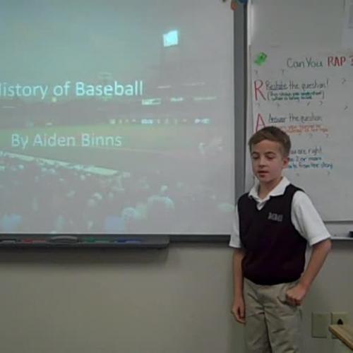 Aiden History of Baseball