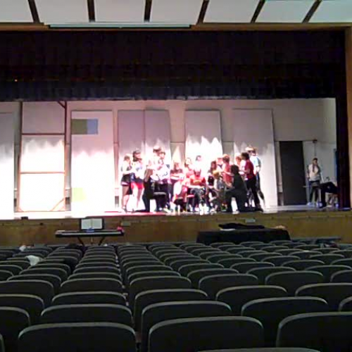 musical rehearsal show off