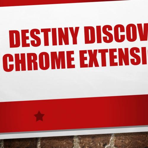 Destiny Chrome Extension