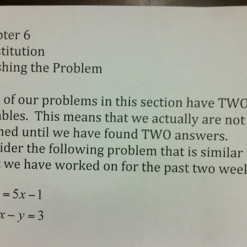 SSHSMATH - Ch 6 Finishing the Problem