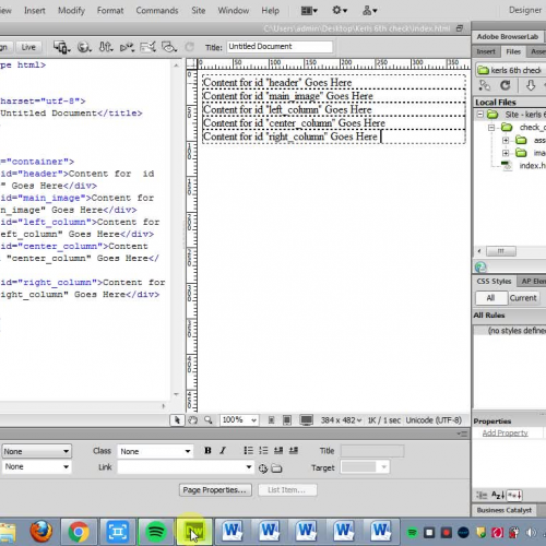 Create and attached a css style sheet in Dreamweaver CS6